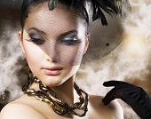 Постер, плакат: Романтический красоты портрет Ретро стиль