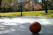 Basketball Court In The Park
