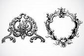 Quadros barrocos de vetor