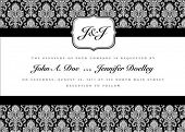 image of wedding invitation  - Ornate small frame with sample text - JPG