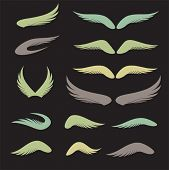 Vector wings logos