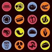 vector food icons set 7