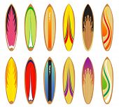 surf board designs set 1