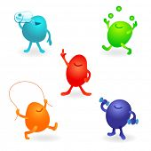 stock photo of gremlins  - cute vector characters - JPG