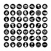 many vector food icons set 2