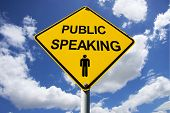 Public Speaking Sign