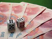 Dice On Chinese Money