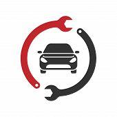 Auto Repairing Logo Vector. Automotive And Transportation Logo Template poster