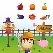 Farmland icons set
