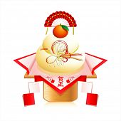 Japanese New Year decoration Kagami mochi (mirror rice cake)