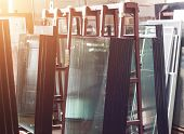 Production Of Pvc Windows, Ready-made Double-glazed Windows For Assembly In A Plastic Pvc Frame, Sho poster