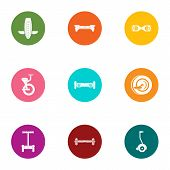 Urban Movement Icons Set. Flat Set Of 9 Urban Movement Vector Icons For Web Isolated On White Backgr poster