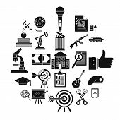 Successful Career Icons Set. Simple Set Of 25 Successful Career Vector Icons For Web Isolated On Whi poster