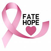 Fate Hope Breast Cancer Logo. Realistic Illustration Of Fate Hope Breast Cancer Vector Logo For Web  poster