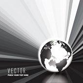 Vector Glow Globe with Sun Rays