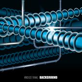 pic of hookup  - Vector Abstract Tubing Factory - JPG
