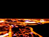 Blurred Background Aerial Night View Of A Big City. Cityscape Panorama Bokeh At Night. Blurry Aerial poster