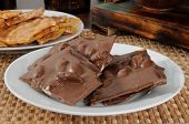 Chocolate Bark And Peanut Brittle