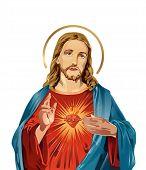 Jesus Christ Sacred Love Peace Faith Holy Spirit Illustration poster