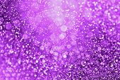 Abstract Purple Glitter Sparkle Confetti Background For Happy Birthday Party Invite, Spooky Hallowee poster
