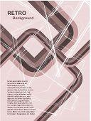 Una ilustración de fondo retro vector abstracto en tonos rosados con una capacidad de copia