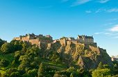 Edinburgh castle on a clear sunny day, Scotland, UK