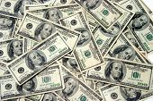 stock photo of ten thousand dollars  - American Money in 100 - JPG