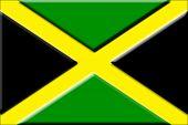 Embossed Jamaican Flag
