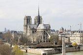 Cathedral ,notre Dame ,paris,france,historic,ancient, The Cathedral Of Notre Dame In Paris, France.  poster