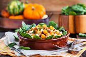 Butternut Squash, Bacon, Spinach And Feta Cheese Warm Salad poster