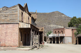 picture of wild west  - Scenery in an Old abandoned american western town - JPG