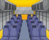 ilustração de vehical arrangementand de assento dentro vista