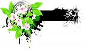 Floral banner for your text