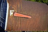 Rusty Old Mailbox