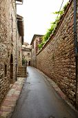 typical italian nook in tuscan village,