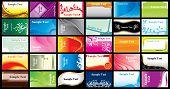 Name card template set