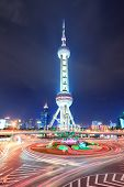 SHANGHAI, CHINA - MAY 27: Oriental Pearl Tower over river on May 27, 2012 in Shanghai, China. It was