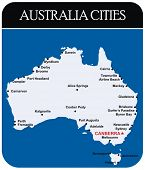 Vector - Australia Cities Map