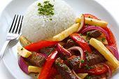 lomo saltado, peruvian cuisine