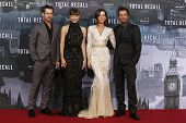 BERLIN, GERMANY - AUGUST 13: Colin Farrell, Jessica Biel, Kate Beckinsale, Len Wiseman at the German