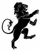 heraldische zügellosen Löwe