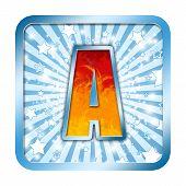 Alphabet Celebration Letter - A