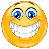 foto of emoticon  - Emoticon with big toothy smile - JPG