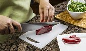 Slicing Pork Meat