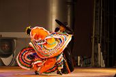 Jalisco Mexican Hat Dancing Swirling Orange Dress