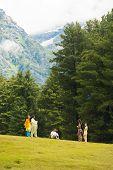 Pahalgam Kashmir Indian Tourists Mountain Nature