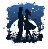 Lovers in night