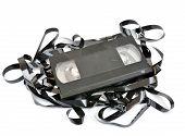 Antigo vídeo cassete vhs isolado