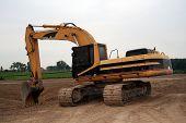 Big Yellow Heavy Construction Vehicle