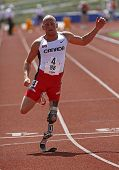 Canadian Paralympic amputado Sprinter Earle Connor